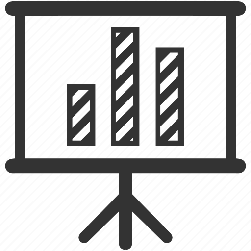 analytics, business, diagram, flipchart, graph, presentation, statistics icon