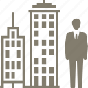 business, businessman, office icon