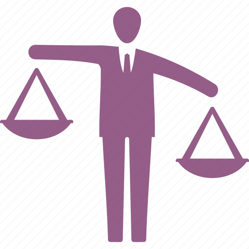 analysis, balance, business decision, businessman icon