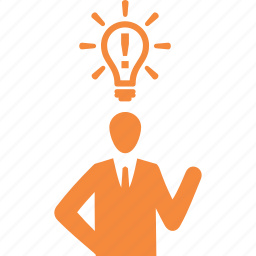 brainstorming, business, business idea, businessman icon