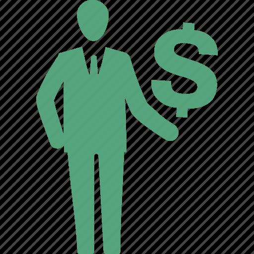 businessman, finance, investments, profit icon