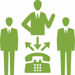 businessman, communication, conference call, teamwork icon