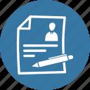 contract, cv, job application, resume