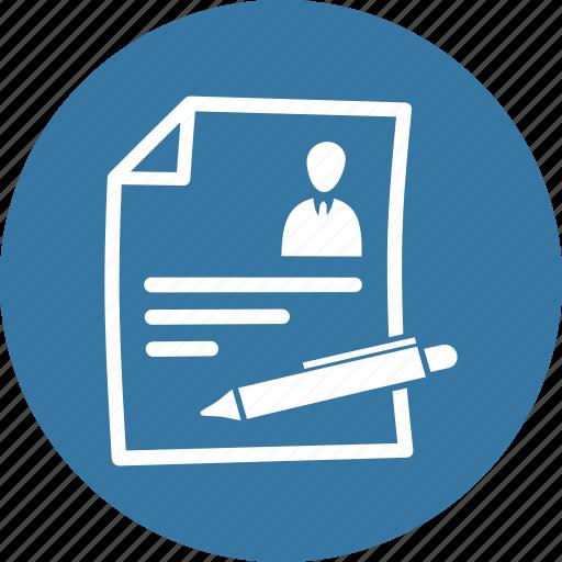contract, cv, job application, resume icon