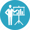 business analytics, graph, presentation, statistics icon