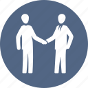 business deal, handshake, interview, partnership icon