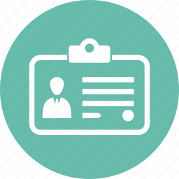 badge, id, identity card, identity document icon