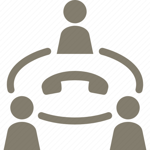 communication, conference call, teamwork icon