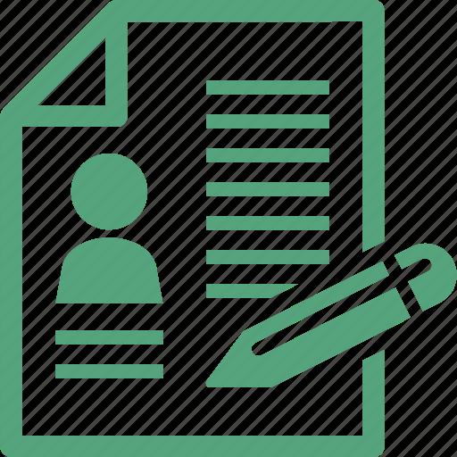 contract, cv, document, resume icon