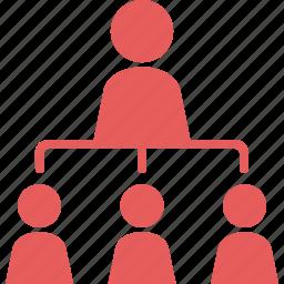 hierarchy, leader, leadership, team icon