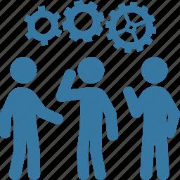 gear, management, strategy, teamwork icon
