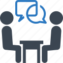 business meeting, job interview, recruitment, teamwork icon