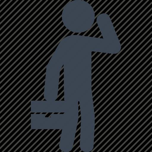 briefcase, businessman, leader, office icon