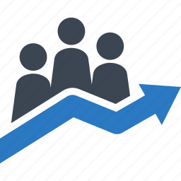 business growth, graph, statistics, success icon