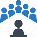business meeting, conference, leadership, teamwork icon