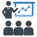 business, meeting, presentation icon