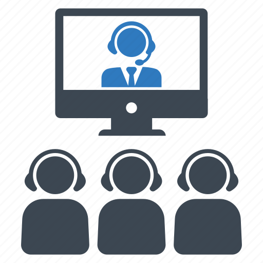 business meeting, conference, video call icon