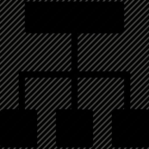 chart, diagram, organization chart, process ico icon