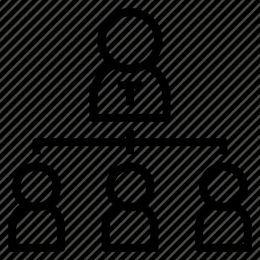 board, chart, hierachy, team icon