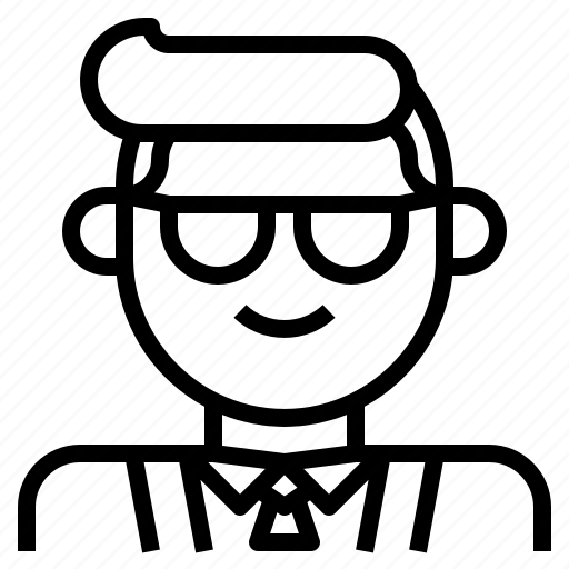 avatar, boss, businessman, manager, professor icon