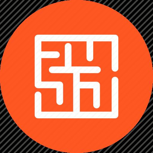 Mystery, direction, business, puzzle, idea, shape, maze icon