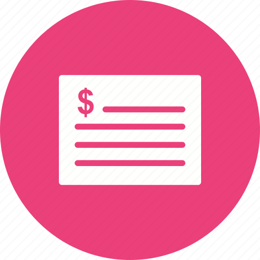 Bill, finance, business, calculator, receipt, budget, invoice icon