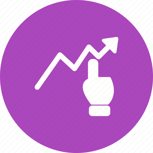 analytics, business, chart, click, graph, report, technology icon