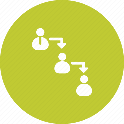 Management, business, chain, people, hierarchy, command, team icon