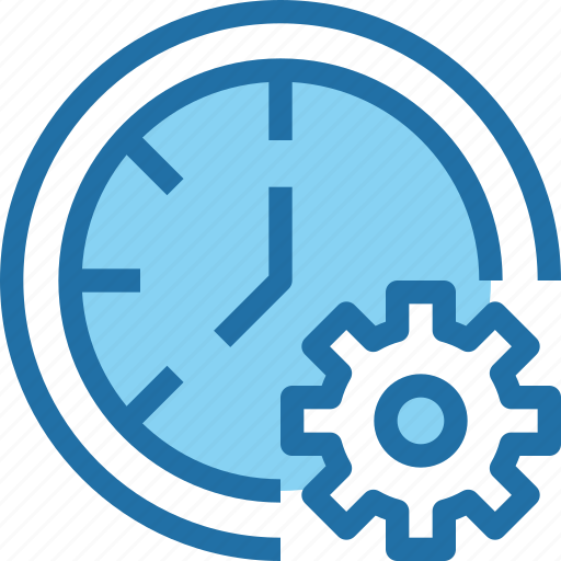 company, develop, gear, management, time, timer icon