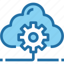 cloud, company, develop, gear, management, process icon