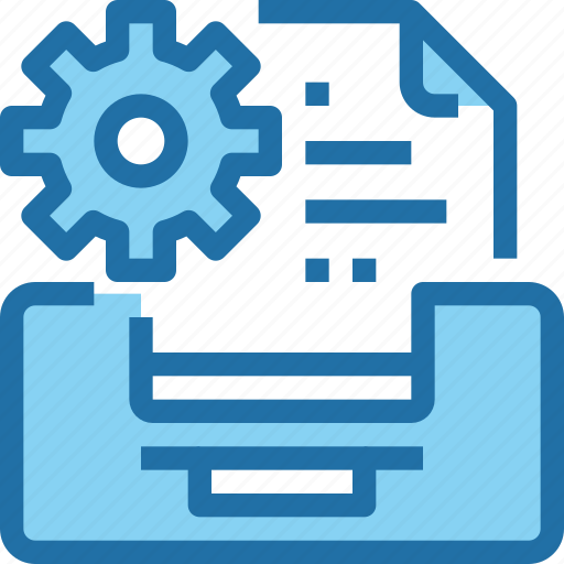 Company, data, file, gear, management icon - Download on Iconfinder