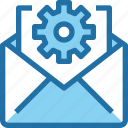 company, email, gear, letter, mail, management icon