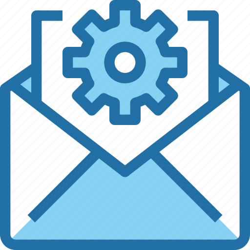 Company, email, gear, letter, mail, management icon - Download on Iconfinder