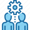 company, gear, human, management, people, process icon