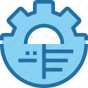 analysis, company, gear, management, process icon