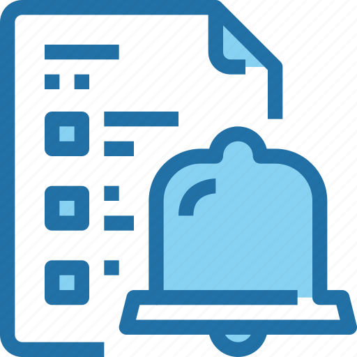 Alram, bell, company, document, file, list icon - Download on Iconfinder