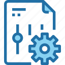 company, document, file, gear, management, option, setting icon