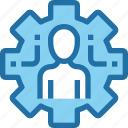 company, gear, human, man, management, people, process icon