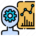 business, efficiency, management, production, robot, skill, worker icon
