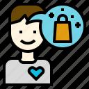behavior, consumer, customer, emotional, marketing, psychology, value icon