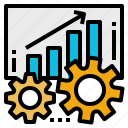 business, growth, increase, possibility, process, productivity icon