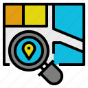 analysis, business, land, location, realestate, selection, site icon