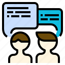 business, dealing, meeting, negotiation, sale, skill, talk, trade icon