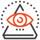 conspiracy, eye, pyramid, search, view, vision, watch