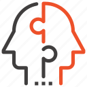 mind, people, puzzle, solution, team, teamwork, thinking icon