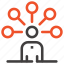 abilities, communication, connection, human, network, person, skills icon