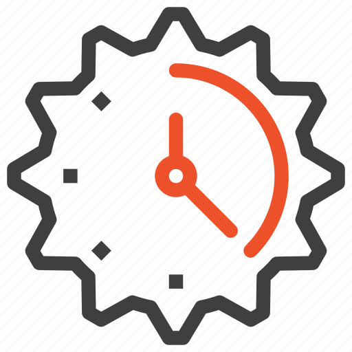 Clock, cogwheel, gear, management, schedule, settings, time icon - Download on Iconfinder