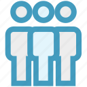 businessmen, management, meeting, people, standing, users icon