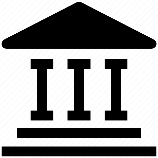 bank, building, business, capital, courthouse, management icon