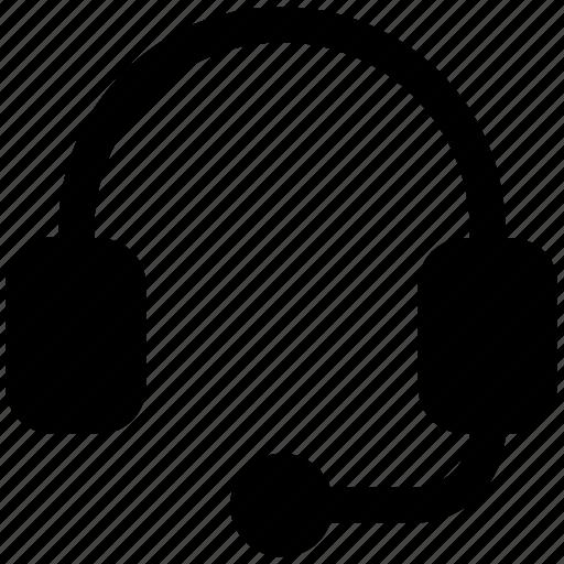 earphone, headphone, headset, listening, telemarketer icon